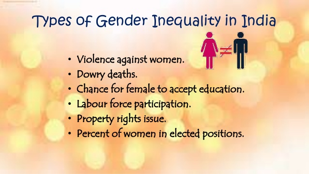 essay gender bias india Gender discrimination has been one of the most primitive forms of discrimination in most civilizations though globally most societies are moving towards reform, there is also a realization that there is too much to be changed and women's rights have been suppressed for too long a time in matters such as property rights, the treatment.